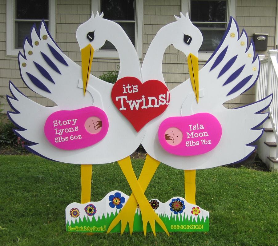 New York Baby Stork Rent A Baby Stork Sign New York